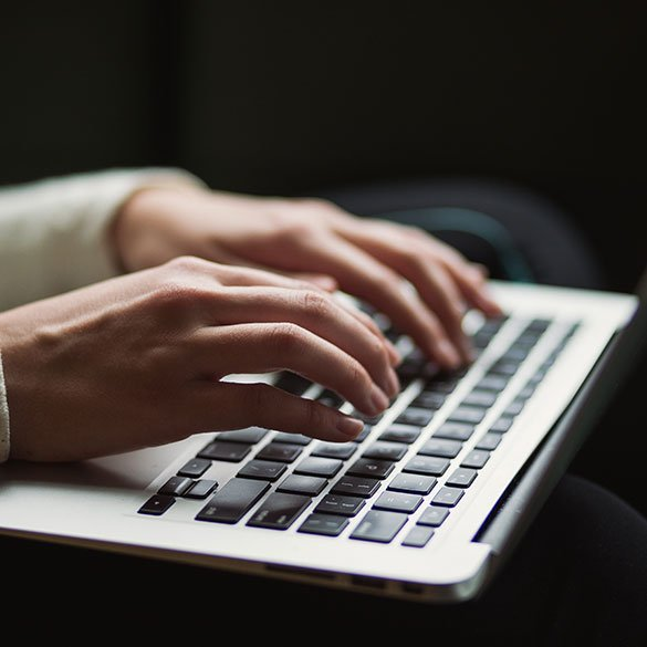 Writer on a laptop